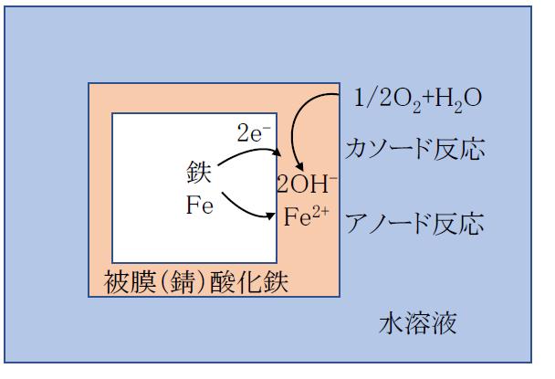 水溶液中における金属腐食