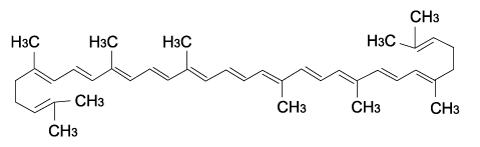 リコピン化学構造式