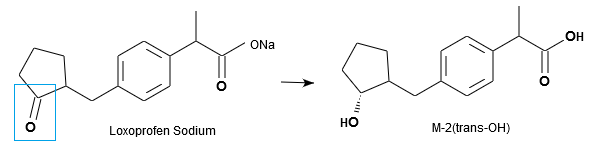 Loxoprofen Sodium and M-2(trans-OH)