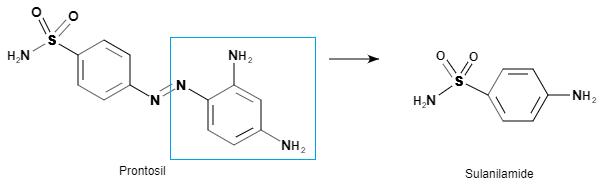 Prontosil and Sulanilamide