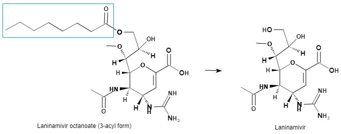 Laninamivir octanoate