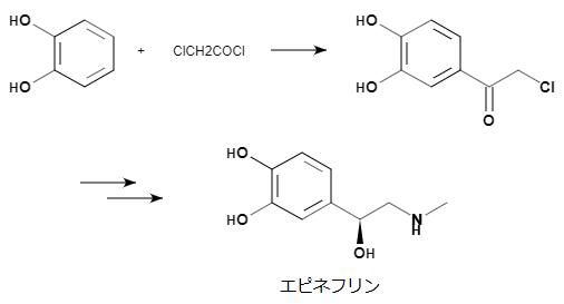 エピネフリンの構造式