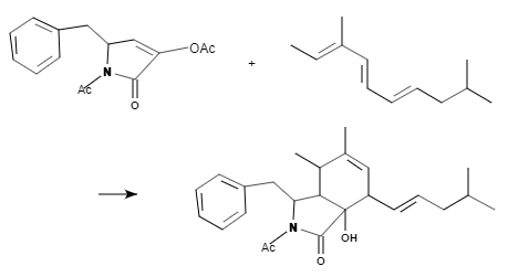 分子間のDiels-Alder反応