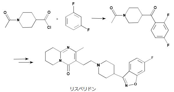 リスペリドンの構造式