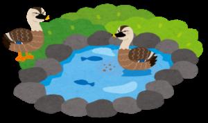 工場運営の水面下での活動(水鳥のイメージ)