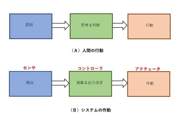 人間の行動とシステムの作動との比較