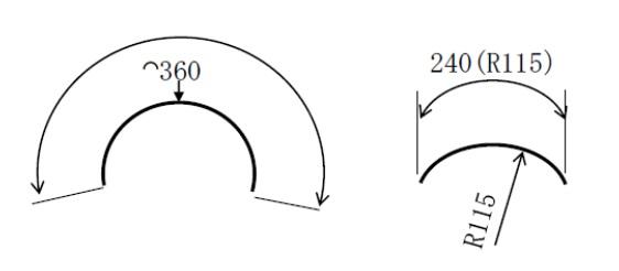 円弧部分の角度