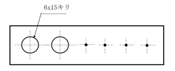 複数穴の表示
