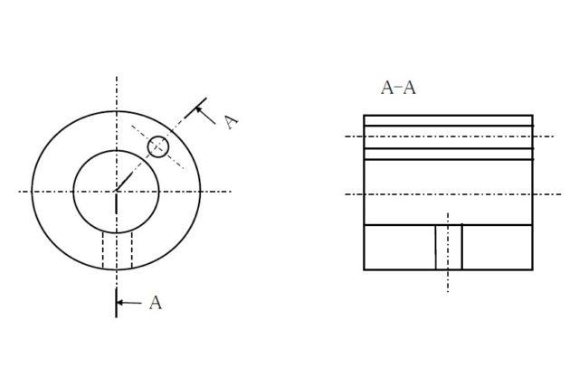 【機械製図道場・初級編】断面の表し方② 対称図形でない場合の断面表示方法