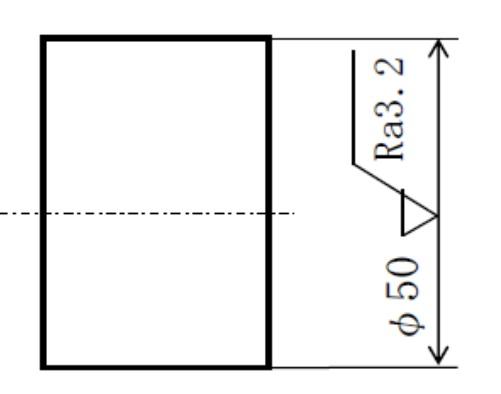 寸法線への指示