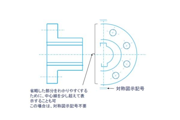 【機械製図道場・初級編】形状の一部を省略して図面を描く(図形を省略できる場合の表示法)