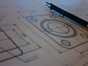 機械図面における穴の表示
