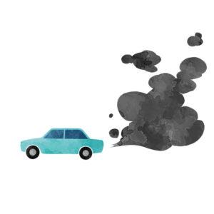 排ガスとセンサ(NOxセンサ)