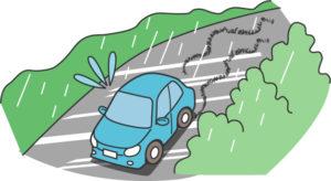 運転中の雨を検知