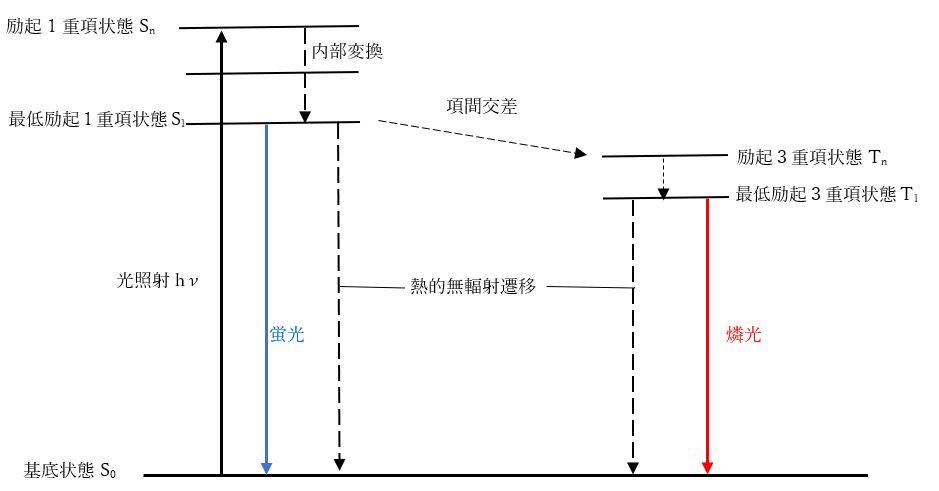 蛍光と燐光の遷移過程