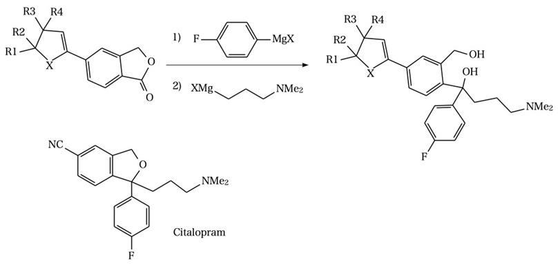 シタロプラムの中間体の合成