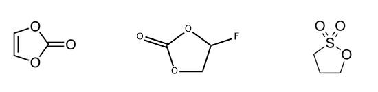 ビニレンカーボネート(VC),フルオロエチレンカーボネート(FEC),1,3-プロパンスルトン(PS)