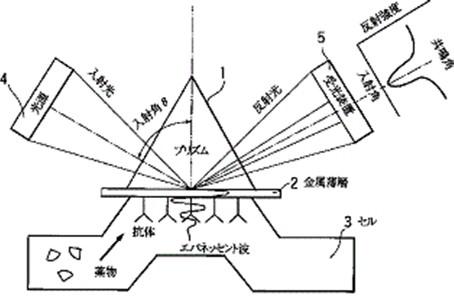 表面プラズモン共鳴(特開平10-090271)