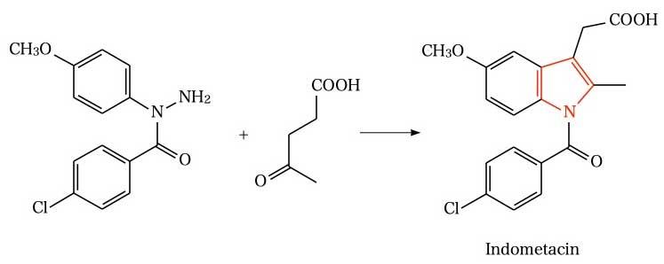 Fischer indole synthesis(Indomethacin)