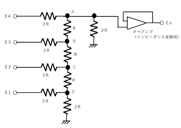 D-A変換回路の例