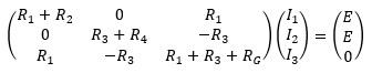 連立一次方程式を行列で表現